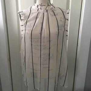 Who What Wear striped top SZ XL NWT